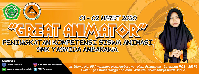 Desain Banner Sekolah Great Animator SMK Yasmida Ambarawa