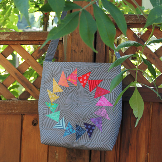 Easy Market Tote Designed by Stacey Day of Stacey in Stitches for Free Spirit Fabric, featuring True Colors by Tula Pink