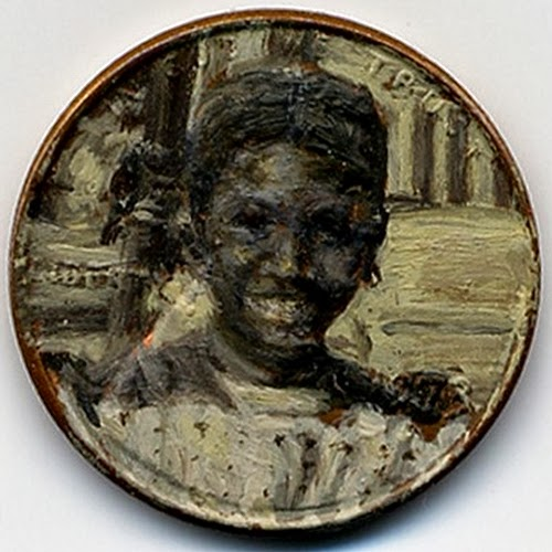 01-Abes-Millennium-1973-Artist-Jacqueline-L-Skaggs-Discarded-Pennies-Oil-Painting-on-Coins-www-designstack-co