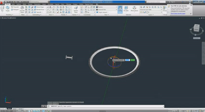 how to draw 3d in autocad 2014