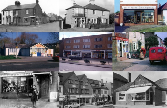 Montage of images of shops in Welham Green