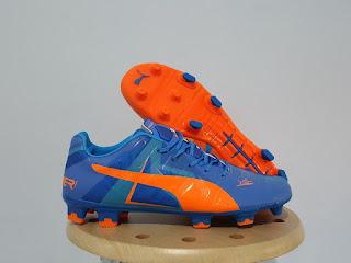 Puma Evopower Trick Blue Orange Sepatu Bola