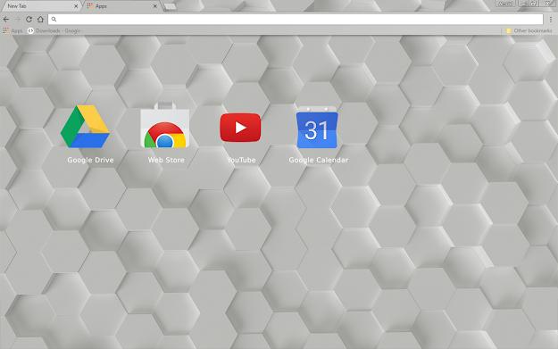 White Hex Chrome Theme