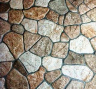 Keramik motif batu pipih sedang