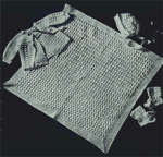Crocheted Baby Set, Jacket Bonnet Blanket, Layette Free Pattern