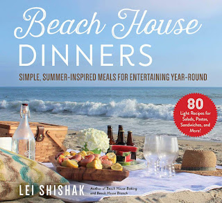 book cover of Beach House Dinners: Simple, Summer-Inspired Meals for Entertaining Year-Round  by Lei Shishak