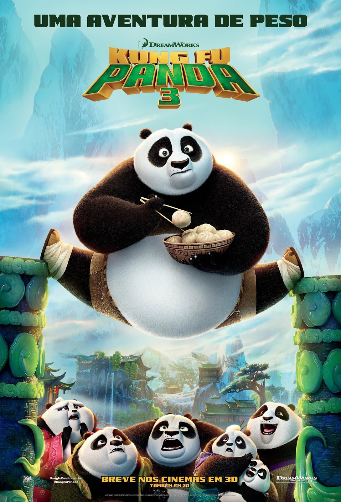 Kung Fu Panda 3 [Dual Audio] BDRip XviD