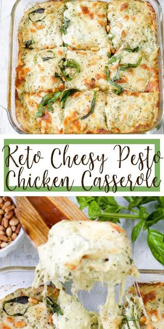 Keto Cheesy Pesto Chicken Casserole