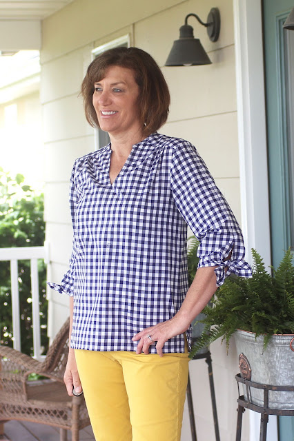 Butterick 6378 and sleeves from McCall's 7543 using IndieSew gingham