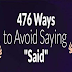 476 Ways to Avoid Saying Said #infographic