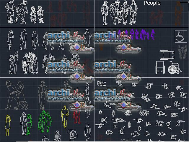 Modèles de personnes 2D Dwg