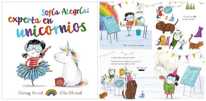cuento infantil niños 3 a 5 años, Sofía Alegría experta en unicornios