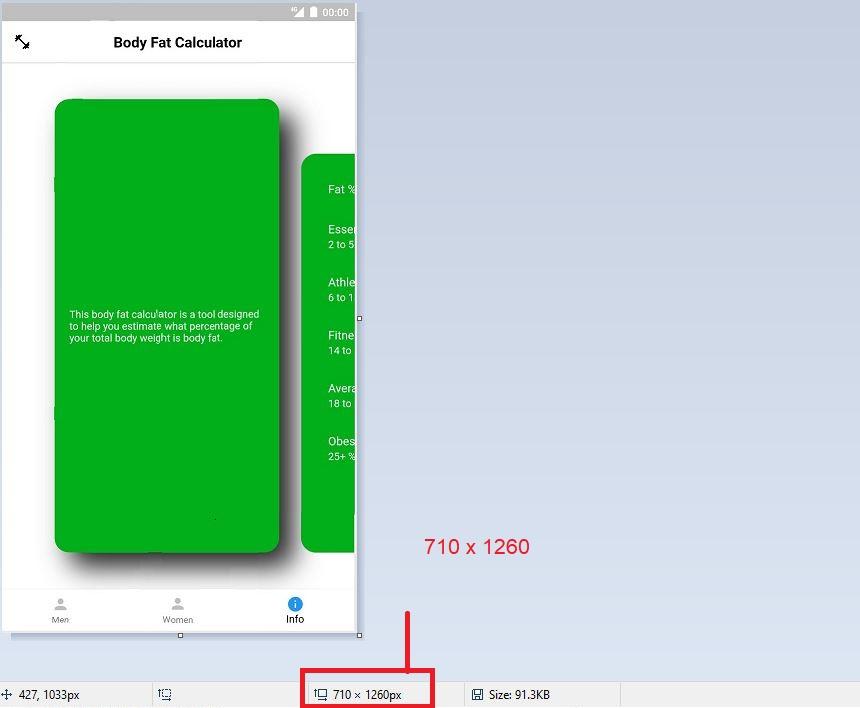 App Screenshot Dimensions 710 x 1260