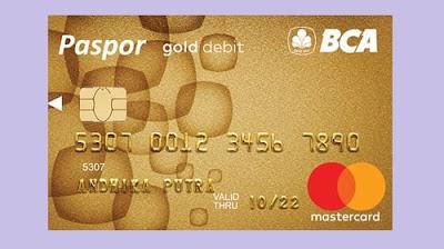 Kartu atm paspor gold bca