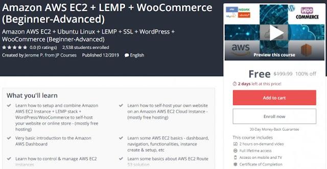 [100% Off] Amazon AWS EC2 + LEMP + WooCommerce (Beginner-Advanced)| Worth 199,99$