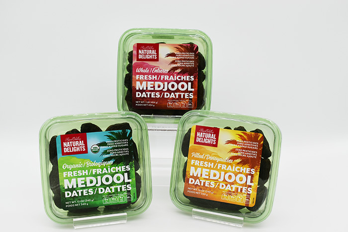 Natural Delights Medjool Dates in packages