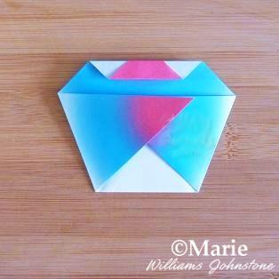 Folding cupcake origami paper