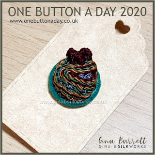 One Button a Day 2020 by Gina Barrett - Day 144 : Flow