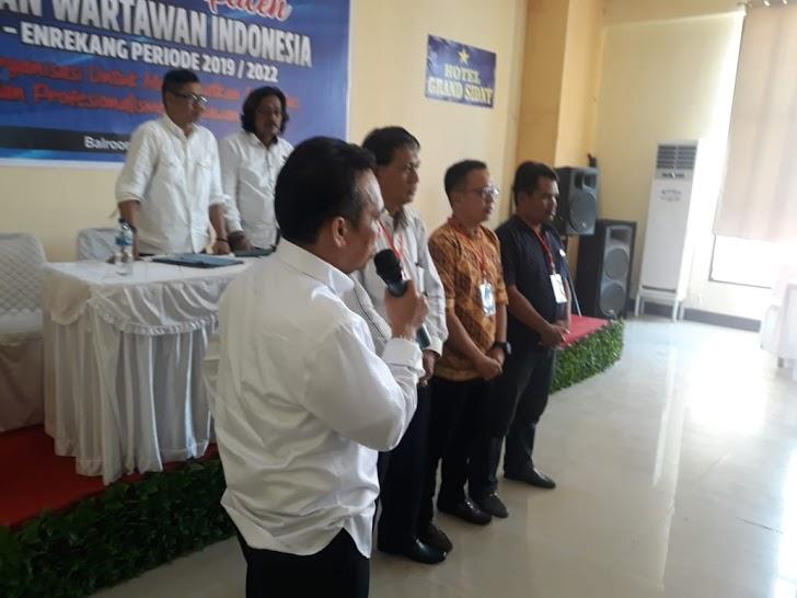 H. Mappiar, HS; Edy Basry Lengkapi, Pengurus PWI Sidrap-Enrekang