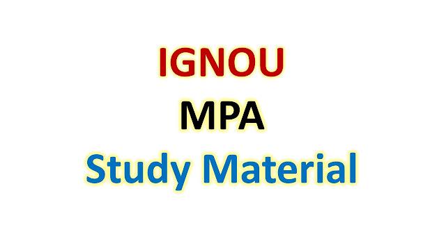 IGNOU MPA Study Material