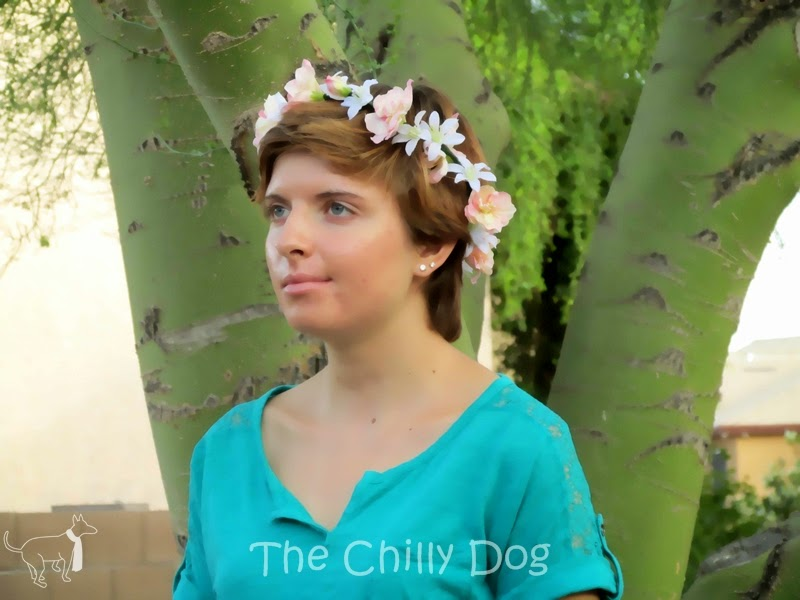 Tutorial: How to make a feminine, spring or summer, silk flower crown