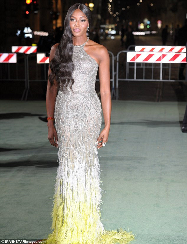 CHECKOUT THE VERSACE DRESS NAOMI CAMPBELL WAS SPOTTED IN THAT HAS SINCE SET TONGUES WAGGING