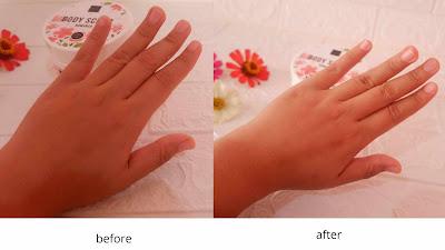 kulit lebih halus dan cerah setelah menggunakan body scrub