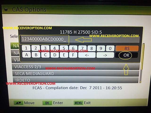 TECHNOSAT 2012 CLASSIC HD RECEIVER BISS KEY OPTION