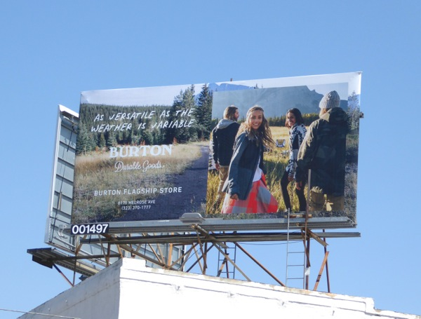 Burton As versatile as weather variable billboard