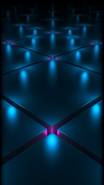 Abstrato Cubo Luzes Neon