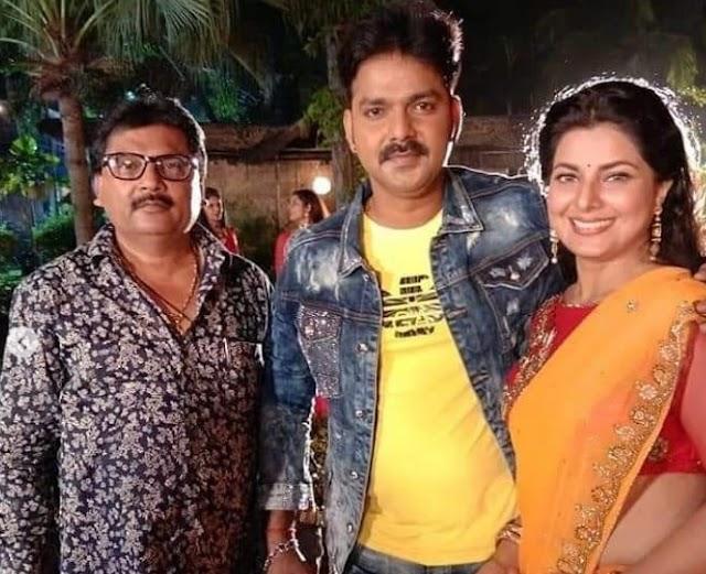 Bhojpuri news : सजना पे दिल आ गईल फिल्म के सेट स्मृति सिन्हा संग पवन सिंह ने शेयर की तस्वीर, लिखी यह बात..