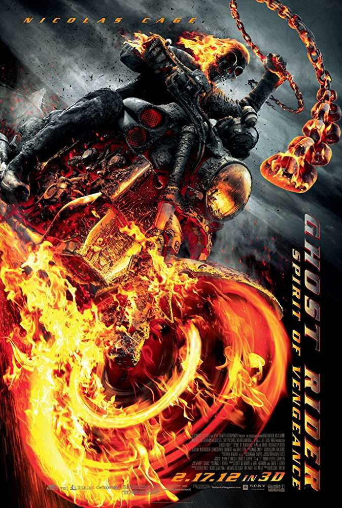 Poster Ghost Rider: Spirit of Vengeance 2011 Dual Audio HD 720p