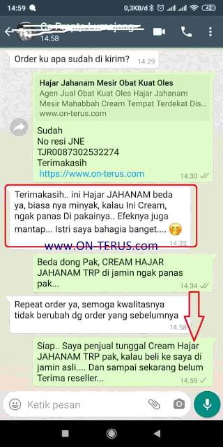 Seller Tunggal Cream Hajar Jahanam TRP Jamin Barang Original