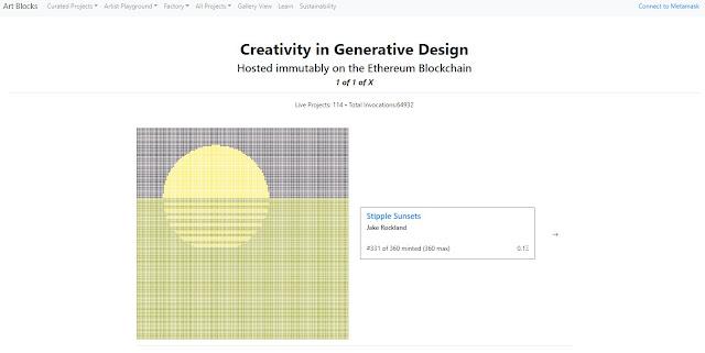 Screenshot Website Art Blocks