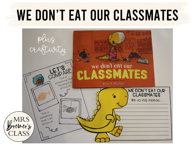 We Don't Eat Our Classmates book study companion activities for back to school K-1