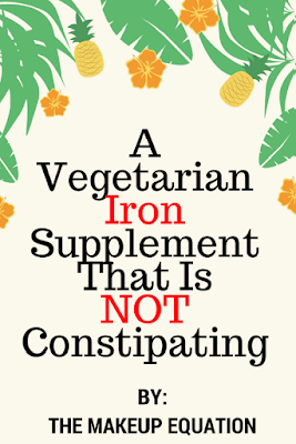 organic, vegetarian Iron supplement that is not constipating