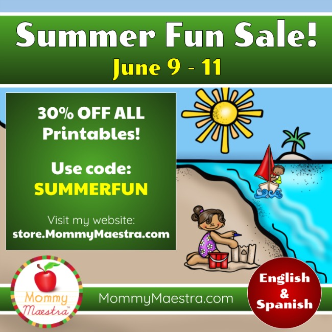 MommyMaestra Summer Fun Sale