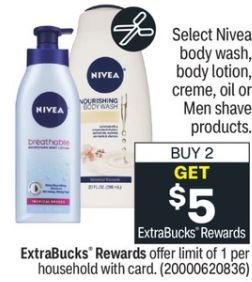 FREE Nivea Body Lotion at CVS 1/31-2/6