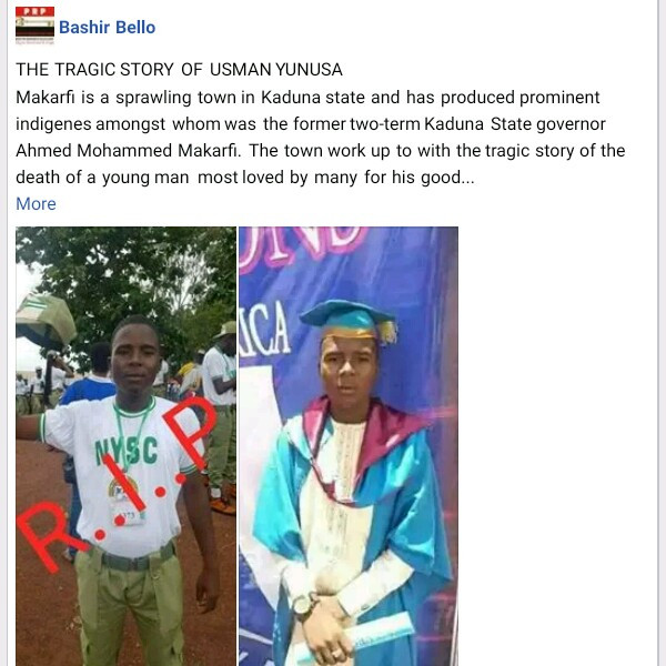 Armed Robbers Shot Dead an Orphaned Corps Member Who Sponsored Himself through University - See Photos
