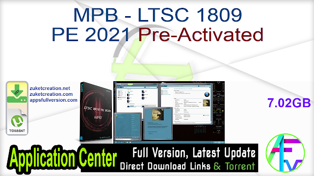 MPB – LTSC 1809 PE 2021 Pre-Activated