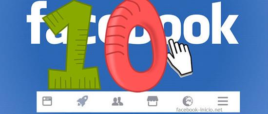 10 razoones en facebook inicio