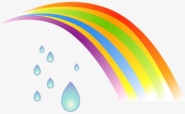 قطرة المطر وقوس قزح