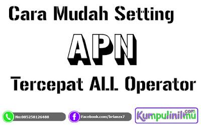 Cara Setting APN Indosat, Telkomsel, Tri