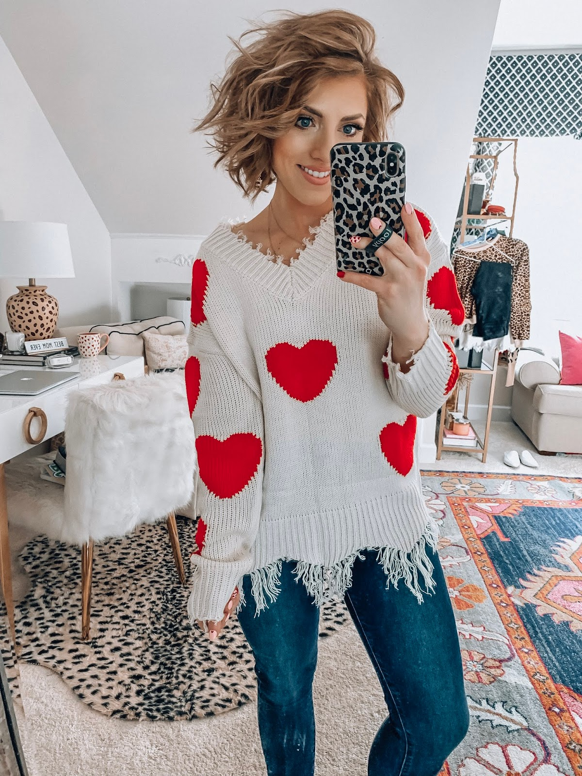 Recent Amazon Finds: Valentine Heart Sweaters, Leopard and More - Something Delightful Blog #ValentineSweater #ValentinesDay #AmazonFashion #AffordableFashion #Hearts #WhatToWear