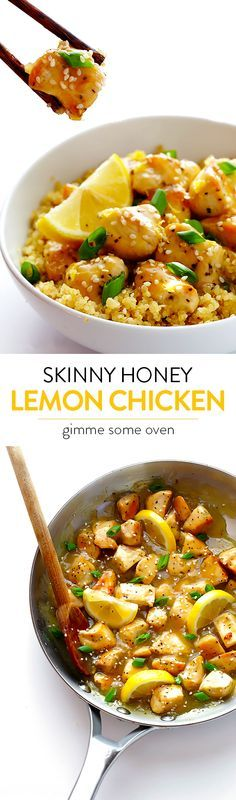 This Skinny Honey Lemon Chicken recipe is quick and easy to make, made naturally lighter and gluten-free, and it's absolutely delicious!