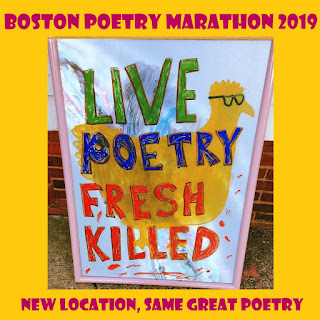 live poetry fresh killed parody sign of somerville poultry sign for the boston poetry marathon
