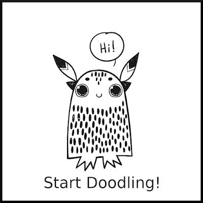 Doodle owl saying hi
