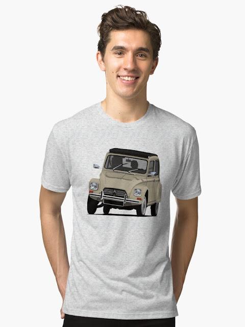 Citroën Dyane classic car - shirt beige