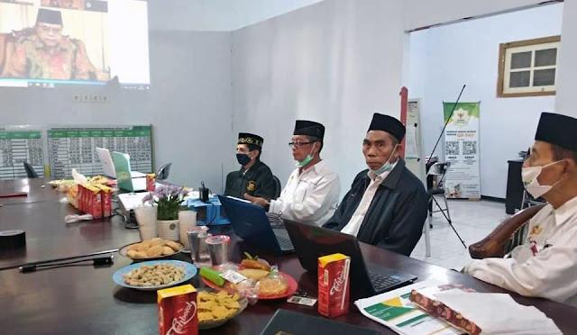 Rapat koordinasi Baznas secara daring