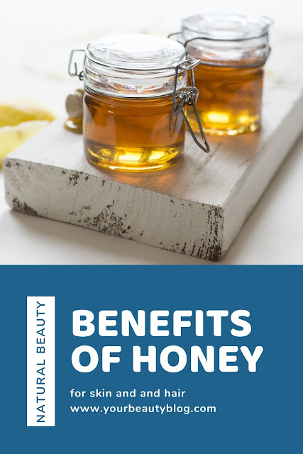 How to use raw honey for natural beauty.  Honey is excellent for your skin and for your hair.  Get things to do with honey for natural beauty hacks and tips.  Honey uses for natural skin care and hair care.  #honey #hair #skin #naturalbeauty